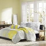 Home Essence Chloe 4-Piece Bedding Set, Queen, Yellow