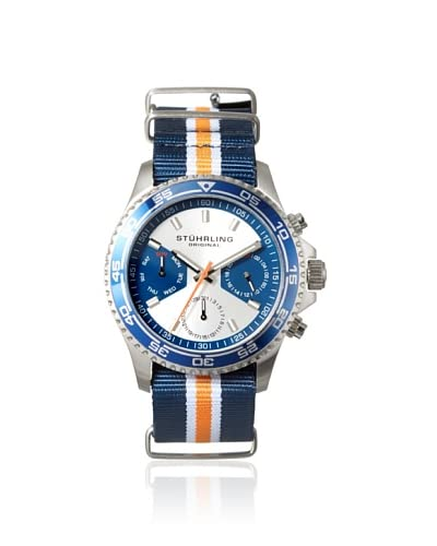 Stuhrling Men's 843.01 Leisure Blue/Silver Stainless Steel Watch