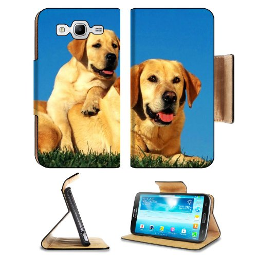 Dogs Labradors Couple Baby Puppy Care Samsung Galaxy Mega 5.8 I9150 Flip Case Stand Magnetic Cover Open Ports Customized Made To Order Support Ready Premium Deluxe Pu Leather 6 1/2 Inch (165Mm) X 3 2/5 Inch (87Mm) X 9/16 Inch (14Mm) Liil Mega Cover Profes