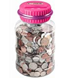 Discovery Kids Coin Counting Money Jar Electronic Bank Digital Coin Counter Pink