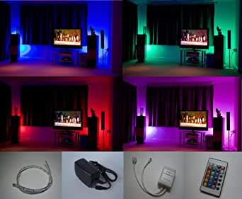 Colour Changing Led Mood Light Kit With Ir Remote Control