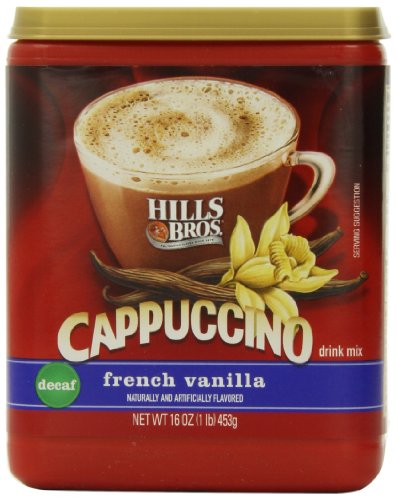 Hills Bros Cappuccino Decaf French Vanilla, 16 Ounce (Instant Flavor Coffee compare prices)
