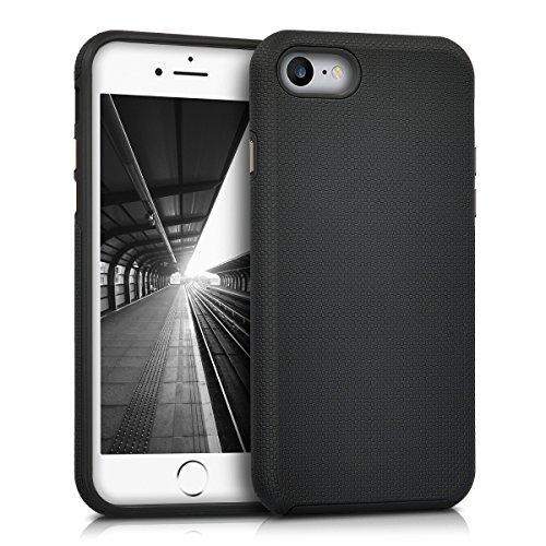 kalibri-Armor-Schutzhlle-fr-Apple-iPhone-7-Hybrid-Dual-Layer-TPU-Silikon-Schale-und-PC-Case-in-Schwarz