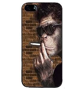 PRINTVISA Smoking Chimpange Case Cover for Apple iPhone SE