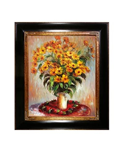 Claude Monet Vase of Chrysanthemums Hand-Painted Oil Reproduction