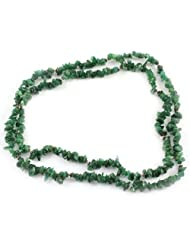 925 Silver Green Stone Rope Gemstone Necklace For Women 11678