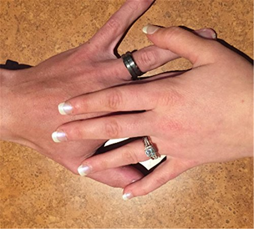 King Will 8mm High Polish / Matte Finish Men's Tungsten Ring Wedding Band Comfort Fit 11.5