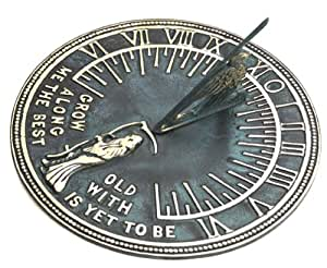 Flora & Fauna SD62 Father Time Sundial (Discontinued by Manufacturer)