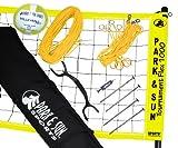 Park & Sun Tournament Flex 1000 Yellow Volleyball Net