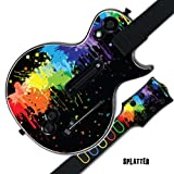 MightySkins Protective Skin Decal Cover Sticker for GUITAR HERO 3 III PS3 Xbox 360 Les Paul - Splatter