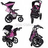 3-Wheel-All-Terrain-Jogger-Stroller-Baby-Infant-Lightweight-Reclining-Cup-Holder