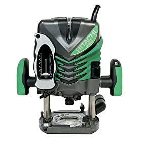 Hitachi M12V2 15 amp 3-1/4-Horsepower Plunge Base Variable Speed Plunge Router with 1/4-inch and 1/2-inch Collets