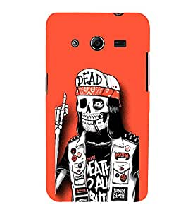 EPICCASE Skull Pirate Mobile Back Case Cover For Samsung Galaxy Core 2 (Designer Case)