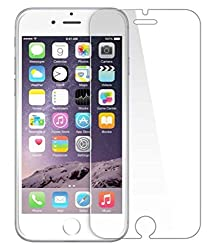 Apple iPhone 6 & 6S Compatible Tempered Glass Screen Protector (Antishock, Curved Edged) (Pack of 2, Only Front Transparent Screen Protector) (Combo Offer, get a VJOY EP-10 Champ in the ear earphone, with mic (RED) Compatible with Apple iPhone 6 & 6S worth Rupee 599/- absolutely free with Screen Protector)