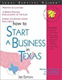 How to Start a Business in Texas (Legal Survival Guides)