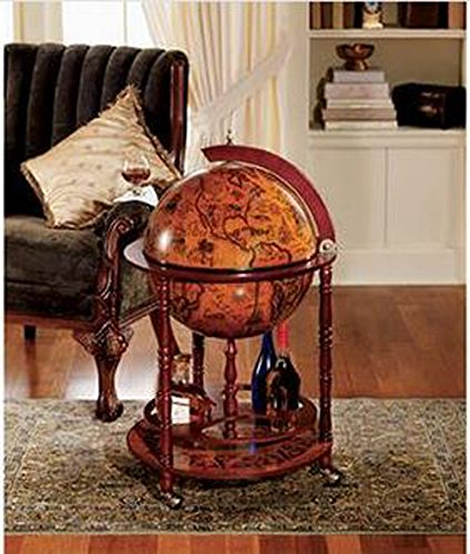 Sixteenth-Century Italian Replica Old World Globe Bar 1