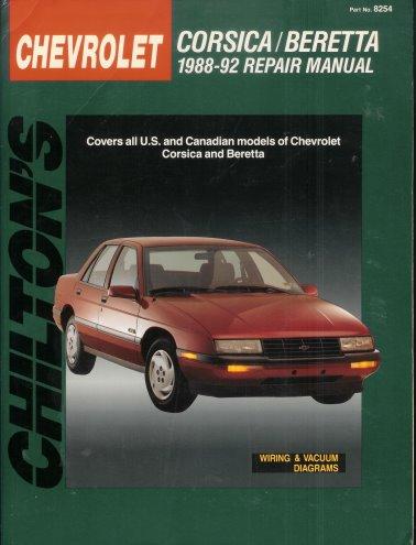 Chilton's Chevrolet: Corsica/Beretta : 1988-92 Repair Manual/Covers