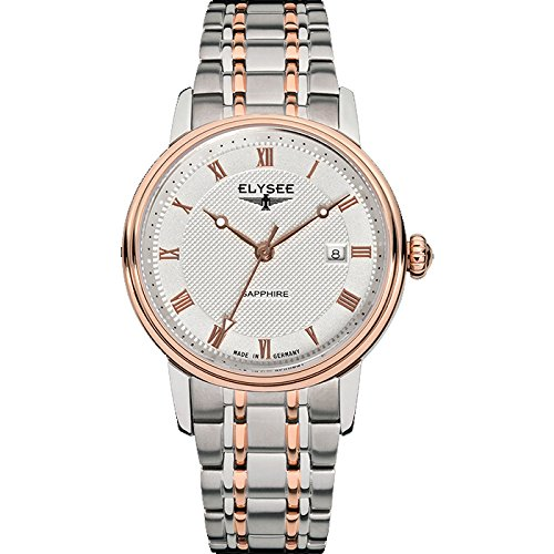 ELYSEE Made in Germany Monumentum Lady 77009 31mm Gold Plated Stainless Steel Case Multicolor Steel Bracelet Synthetic Sapphire Women's Watch