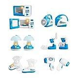 WayIn® 6 paquetes Bonito Mini Inicio Aparato de cocina Set, eléctricos Juegos de construcción - Diseñado para niños pequeños Chicas Dollhouse Dormitorio (Azul)