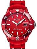s.Oliver Herren-Armbanduhr XL Analog Quarz Silikon SO-2681-PQ