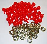 Pack of 50 Red Ball Noses 15mm Teddy Bear Clown Soft Toy Making Detailed Noses