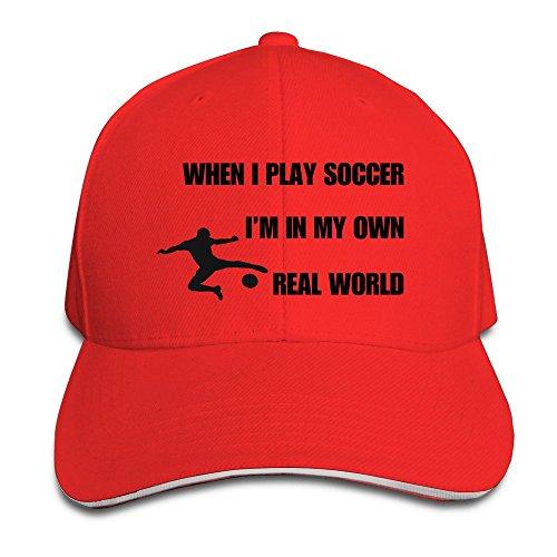 XJ-I Am cool In My Own Real WorldUV Protect-Cappello con visiera, regolabile, per Sandwich, colore: bianco rosso Taglia unica