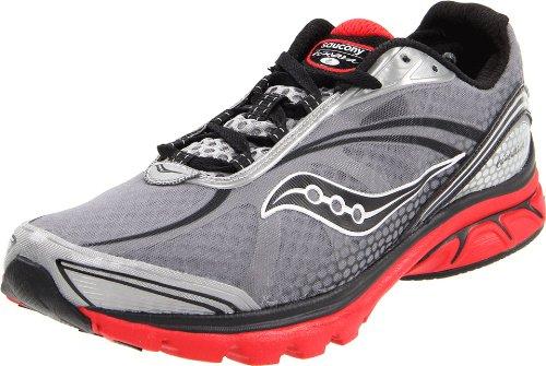 Saucony Men's Progrid Kinvara 2 Running Shoe,Grey/Black/Red,8 M US (Kinvara 2 compare prices)
