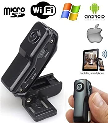 Mini WIFI/IP Wireless Spy Cam Remote Surveillance DV Security Micro Camera Portable Video Recorders up to 32GB PI20