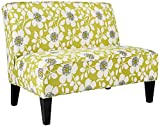 angelo:HOME Dover Peapod Green Floral Modern Settee