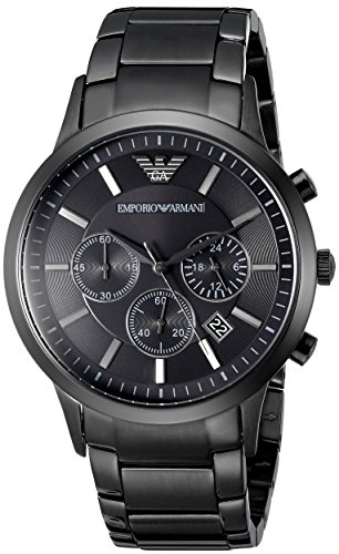 Emporio Armani Men's AR2453 Classic Stainless Steel Black Watch (Emporio Armani Black Dial compare prices)