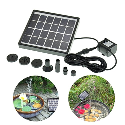 Cozyswan® Solar-Powered Decorative Fountain For Pool Garden Watering Panel Kit Water Pump