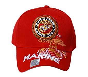 Military - US Marine Corps Hat - Red w/ Eagle Logo