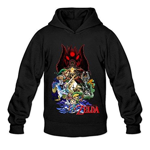 Soulya Men's The Legend Of Zelda Element Hoodies Sweatshirt Size M US Black (Zelda For Wi compare prices)