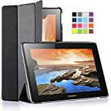 IVSO Lenovo IdeaTab A10-70 Ultra Lightweight Slim Smart Cover Case-will only fit Lenovo IdeaTab A10-70 Tablet (Black)