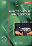 Electronique, terminale STI gnie lectronique 2, Analogique : Livre de l'lve