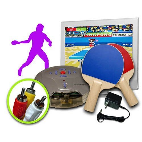Get up & Play some Ping Pong! Real Live Ping Pong (Table Tennis) TV Video Game- No consoles or systems require just plug into the TV and Play!