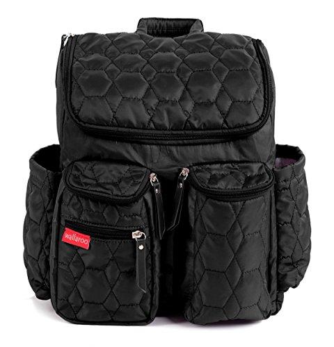wallaroo diaper bag backpack with stroller straps wet bag and diaper changin. Black Bedroom Furniture Sets. Home Design Ideas