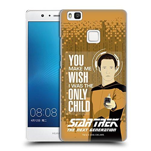 Ufficiale Star Trek Only Child Data Frasi Famose TNG Cover Retro Rigida per Huawei P9 lite / G9 Lite