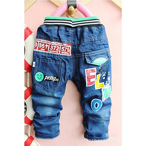 Little Hand Little Boys' Cartoon Printed Elastic Soft Denim Pants Jeans