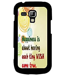 Fuson Premium Happiness Is Metal Printed with Hard Plastic Back Case Cover for Samsung Galaxy S Duos 2 S7582