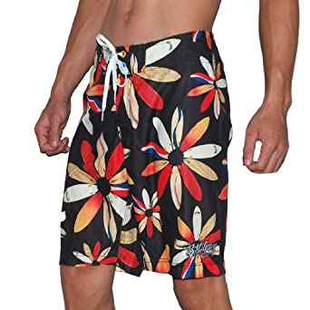 flower of life skate surf boardshorts board shorts multicolor