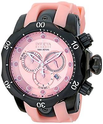 Invicta Men's 11974 Venom Reserve Chronograph Pink Dial Pink Polyurethane Watch