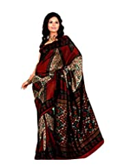 Meher Silk Printed Saree (SD18008_Maroon)