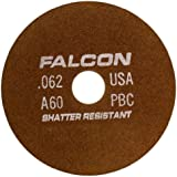 Falcon A60PBC Resinoid Bonded Shatter Resistant Tool Room Reinforced Abrasive Cut-off Wheel, Type 1, Aluminum Oxide