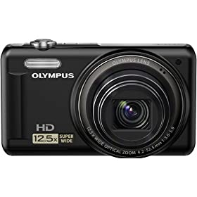 Olympus VR-320 228125 14 MP Digital Camera with Super-Wide 12.5x Zoom and 3.0-Inch LCD (Black)