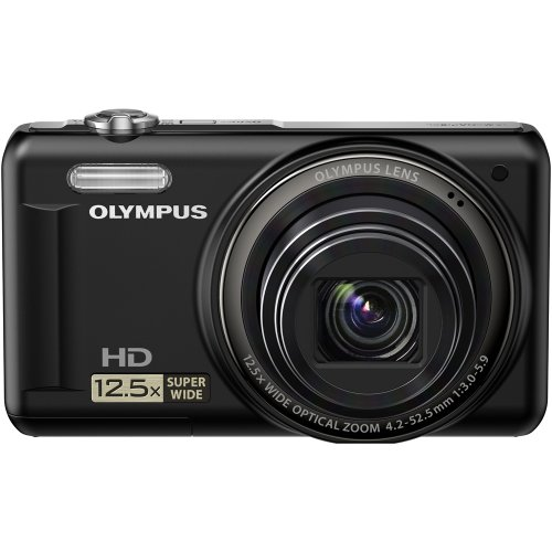 Olympus VR-320  14 MP Digital Camera with 12.5x Optical Zoom and 3″ LCD (Black)