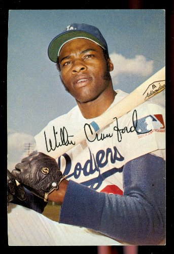 1971 Willie Crawford Los Angeles Dodgers Home Game Schedule Postcard