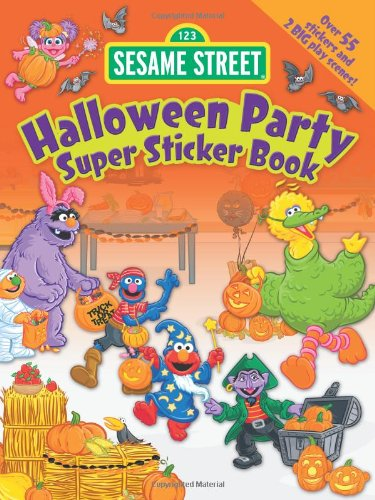 [Sesame Street Halloween Party Super Sticker Book (Sesame Street Stickers) (English and English] (Halloween Sesame Street)