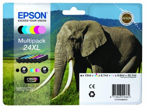 epson-c13t24384010-elephant-24xl-rf-am-high-capacity-6-colour-multipack-ink-cartridge-black-cyan-mag