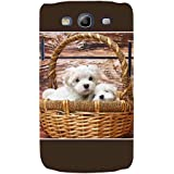 For Samsung Galaxy S3 I9300 :: Samsung I9305 Galaxy S III :: Samsung Galaxy S III LTE Cute Puppies ( Cute Puppies, Puppies, Wood Board Background ) Printed Designer Back Case Cover By FashionCops